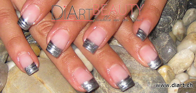 silver shadow french nails